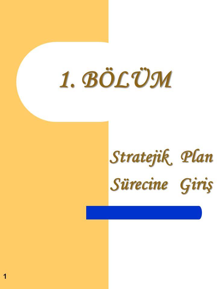 Stratejik Plan Sürecine Giriş 1 1. BÖLÜM