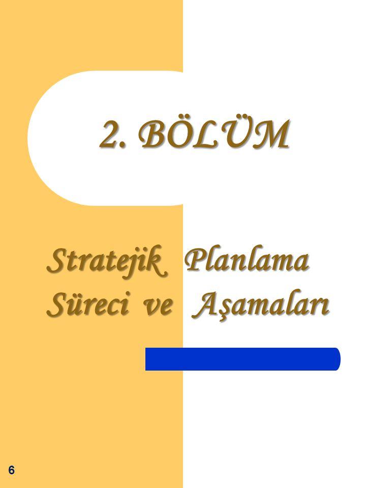 Stratejik Planlama Süreci ve Aşamaları 6 2. BÖLÜM