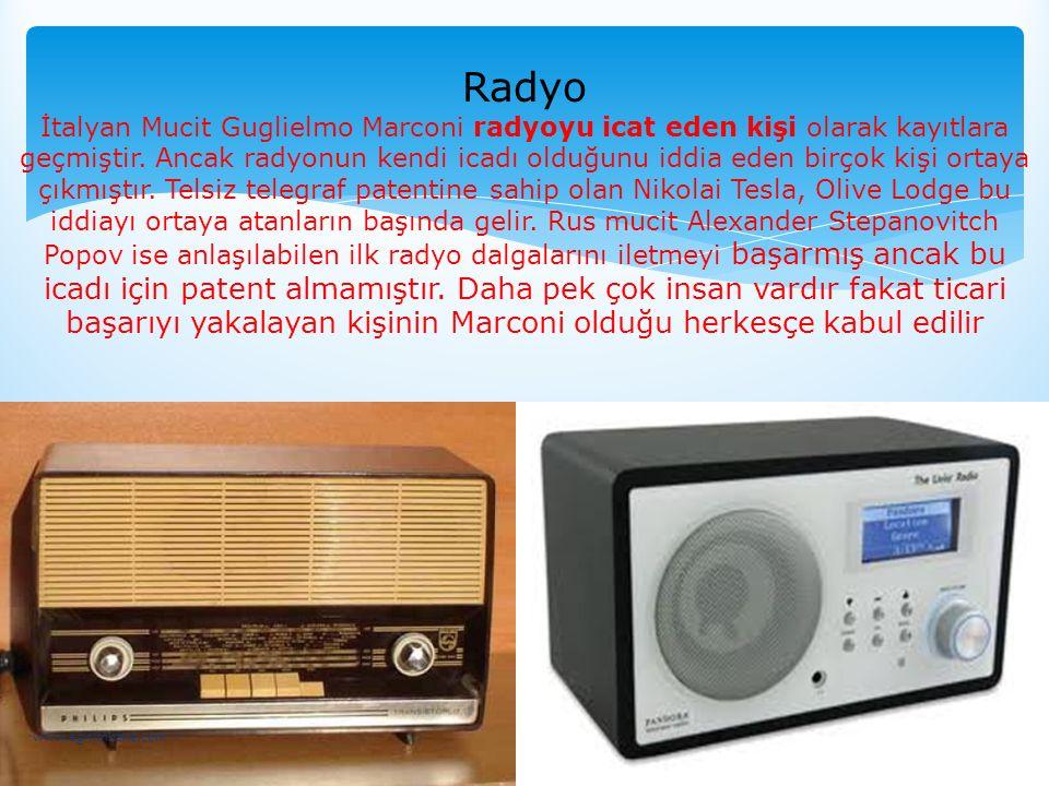 Radyo İtalyan Mucit Guglielmo Marconi radyoyu icat eden kişi olarak kayıtlara geçmiştir. Ancak radyonun kendi icadı olduğunu iddia eden birçok kişi or