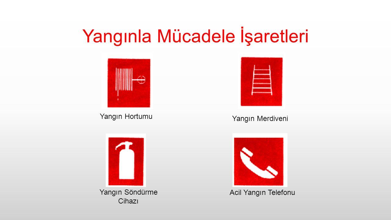 Yangınla Mücadele İşaretleri Yangın Hortumu Yangın Söndürme Cihazı Acil Yangın Telefonu Yangın Merdiveni