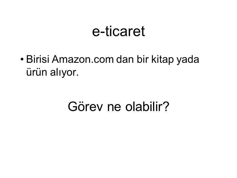 e-ticaret Birisi Amazon.com dan bir kitap yada ürün alıyor. Görev ne olabilir?
