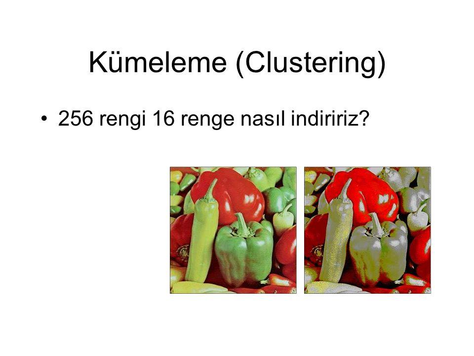Kümeleme (Clustering) 256 rengi 16 renge nasıl indiririz?