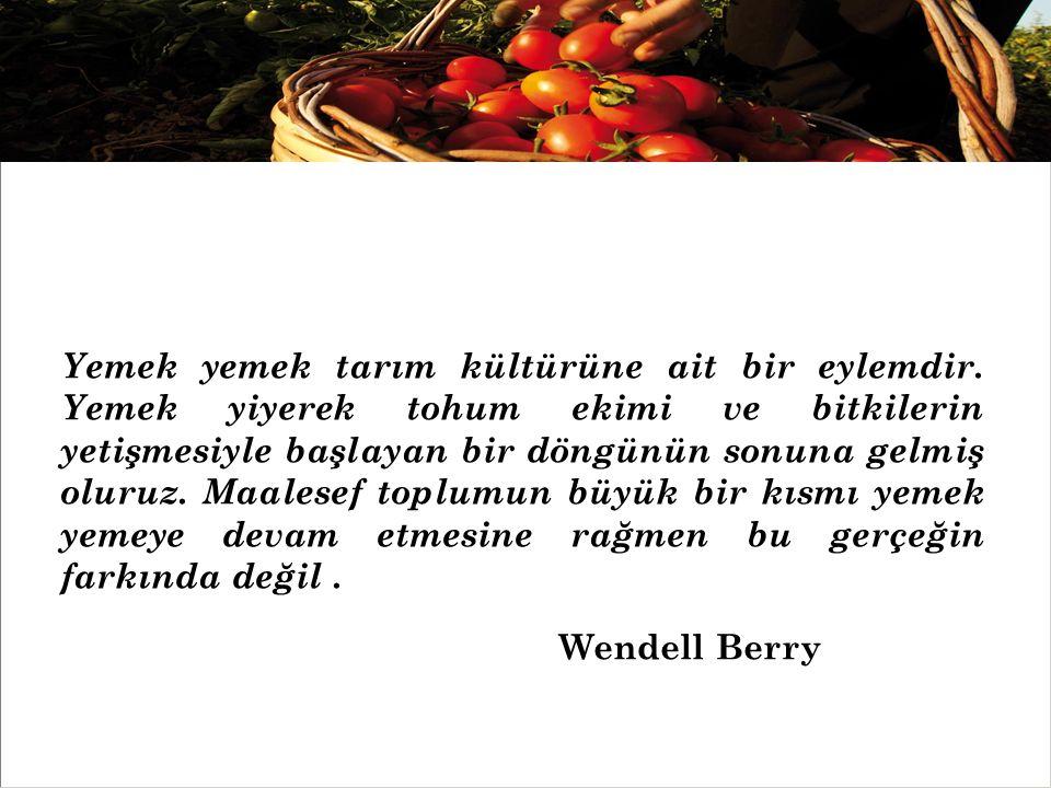 « Gıda toplulukları gelenekler, kültürler ve hasatlar üzerinden bunları savunan insanları birbirine bağlar.