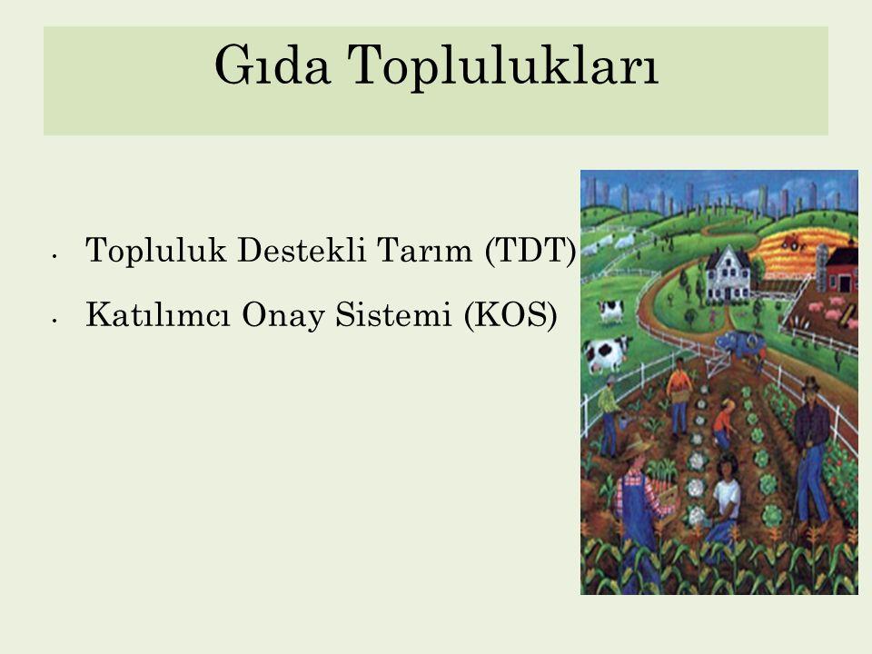 Türkiye'de TDT & KOS Örnekleri ANKARA Doğal Besin, Bilinçli Beslenme Grubu (DBB) ankaradbb.wordpress.com Güneşköy www.guneskoy.org.tr BALIKESİR Yaşam Dostu Ürün Dayanışma Üretim ve Paylaşım Grubu www.yasamdostu.org ÇANAKKALE Çanakkale Ekolojik Yaşam İnisiyatifi (ÇAYEK) www.cayek.org GAZİANTEP Yeşil Ev Tüketim Kooperatifi Girişimi