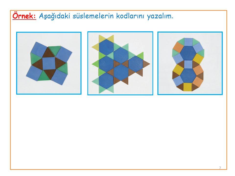 Örnek: Aşağıdaki süslemelerin kodlarını yazalım. 7