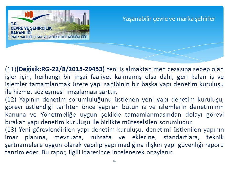 (11)(Değişik:RG-22/8/2015-29453) Yeni iş almaktan men cezasına sebep olan işler için, herhangi bir inşai faaliyet kalmamış olsa dahi, geri kalan iş ve