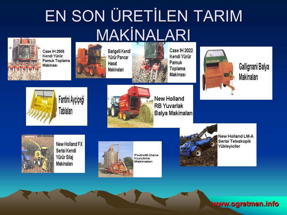 EN SON ÜRETİLEN TARIM MAKİNALARI www.ogretmen.info