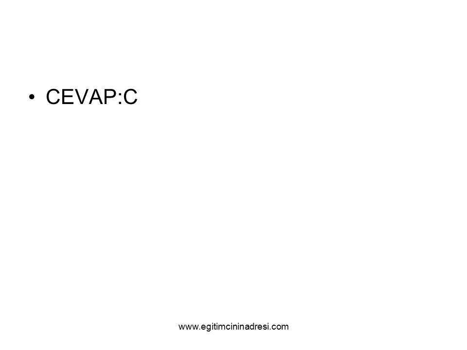 CEVAP:C www.egitimcininadresi.com