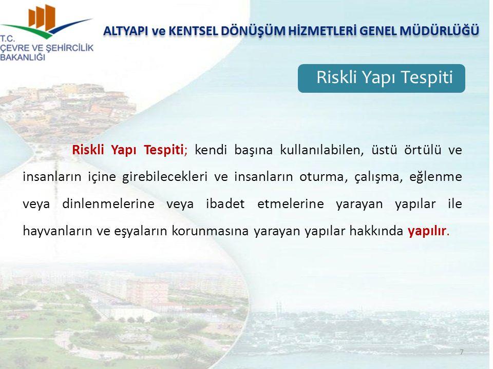 38 6306 sayılı Kanun'da Bu Kanun uyarınca gerçekleştirilecek uygulamalarda yeni yerleşim alanı olarak kullanılmak üzere, TOKİ'nin veya İdarenin talebine bağlı olarak veya resen, Maliye Bakanlığının uygun görüşü alınarak Bakanlıkça belirlenen alan olarak tanımlanmıştır.