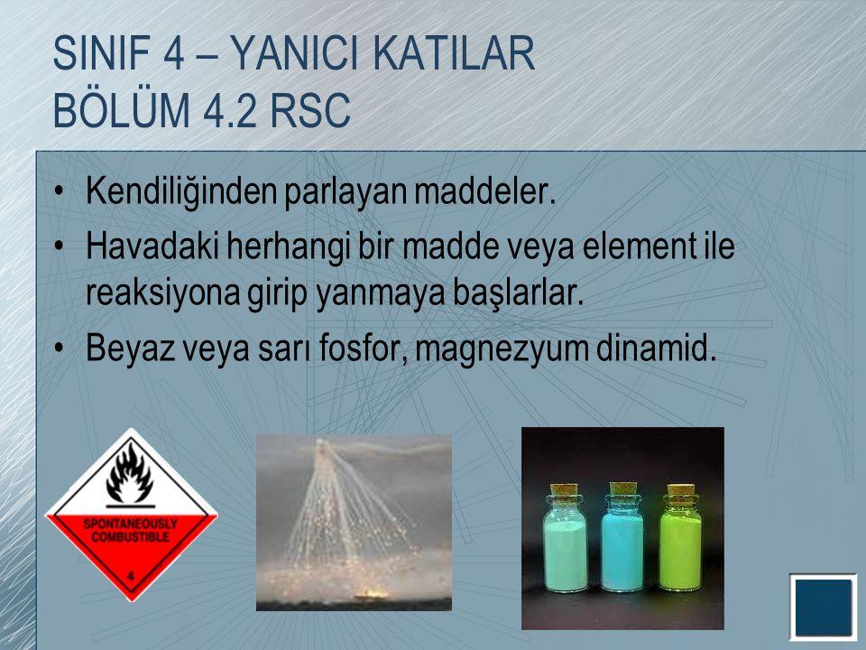 Kendiliğinden parlayan maddeler. Havadaki herhangi bir madde veya element ile reaksiyona girip yanmaya başlarlar. Beyaz veya sarı fosfor, magnezyum di