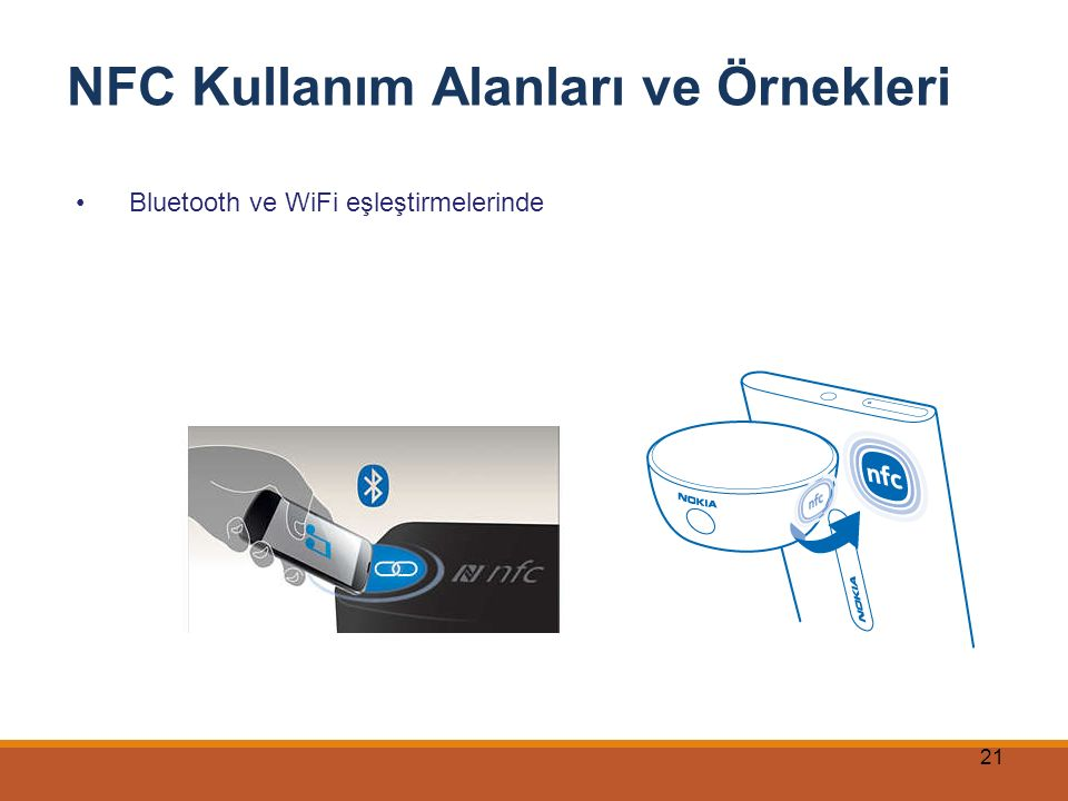 21 NFC Kullanım Alanları ve Örnekleri Bluetooth ve WiFi eşleştirmelerinde
