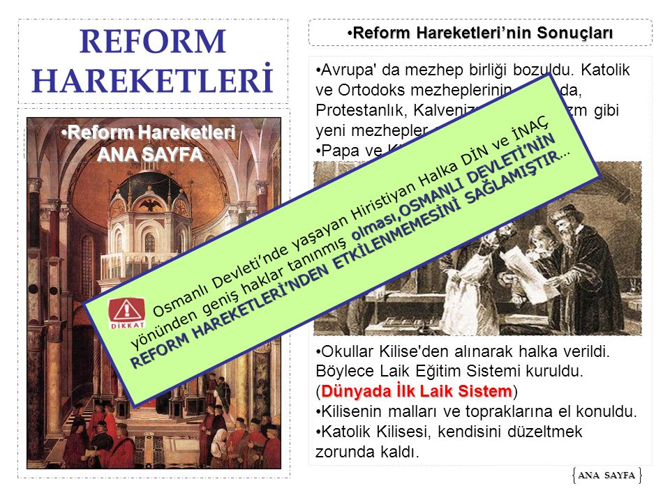 REFORM HAREKETLERİ ANA SAYFA ANA SAYFA Reform Hareketleri'nin SonuçlarıReform Hareketleri'nin SonuçlarıReform Hareketleri'nin SonuçlarıReform Hareketl