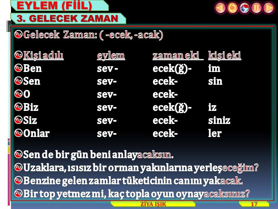 17 ZİYA IŞIK EYLEM (FİİL) 3. GELECEK ZAMAN