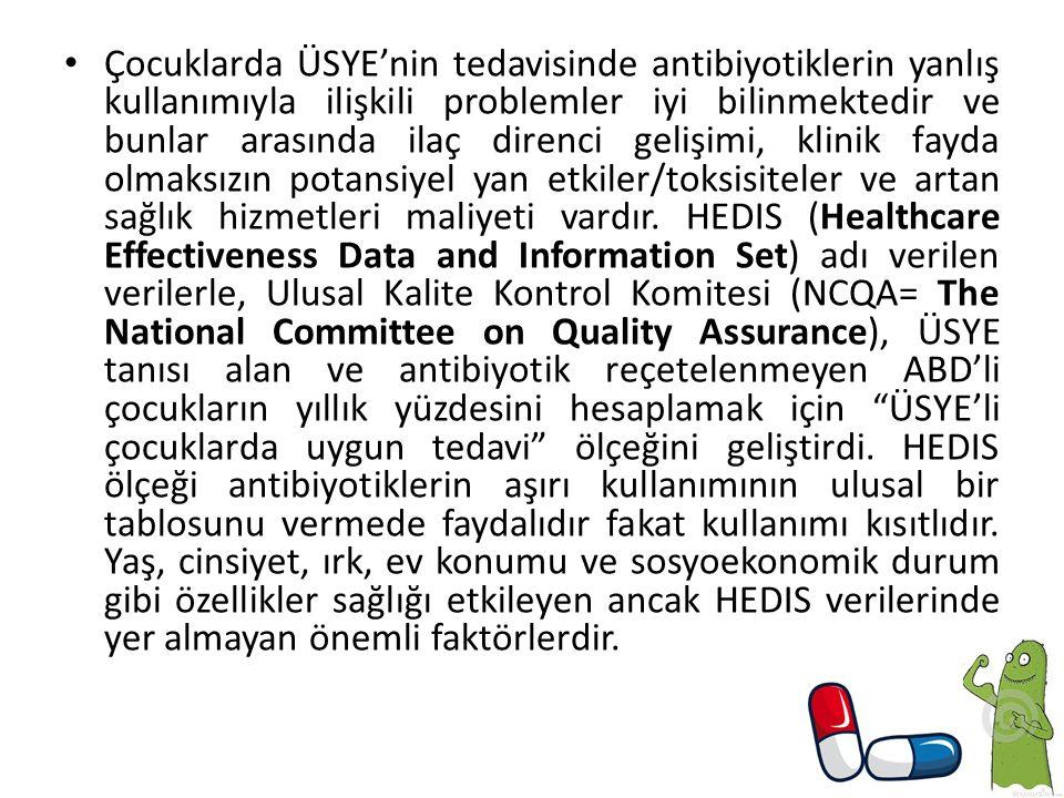HEDIS protokolü antibiyotik reçetelenmeyen çocuklara Uygun Tedavi terimini kullandığından, makalenin devamında bu terminolojiyi kullanacağız.