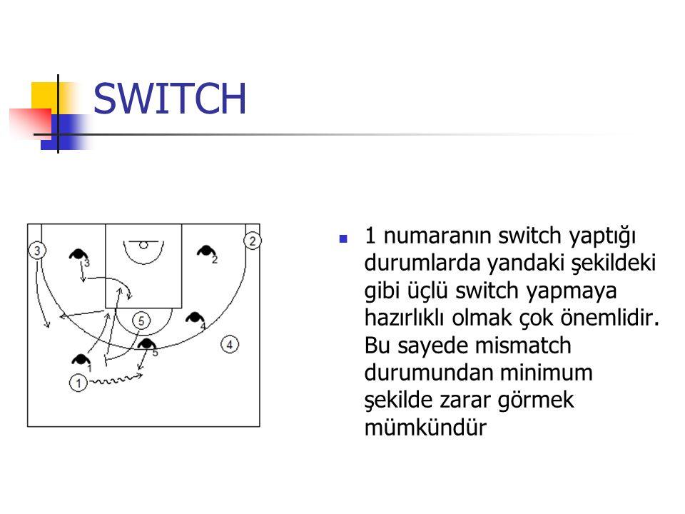 SWITCH 1 numaranın switch yaptığı durumlarda yandaki şekildeki gibi üçlü switch yapmaya hazırlıklı olmak çok önemlidir.