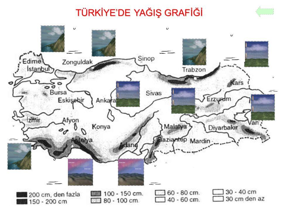 TÜRKİYE'DE YAĞIŞ GRAFİĞİ