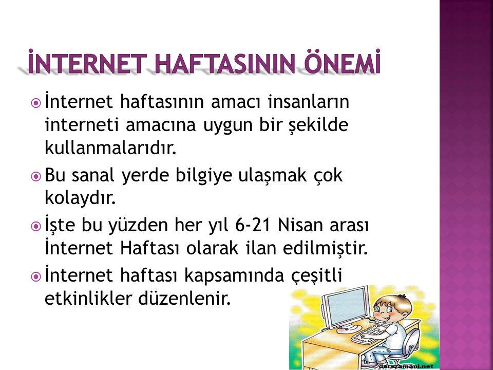  İnternet haftasının önemi  İzmir 2015 internet haftası etkinlikleri  İnternet haftası ilgili şiir  İnternet haftası ile ilgili karikatür ve açıkl