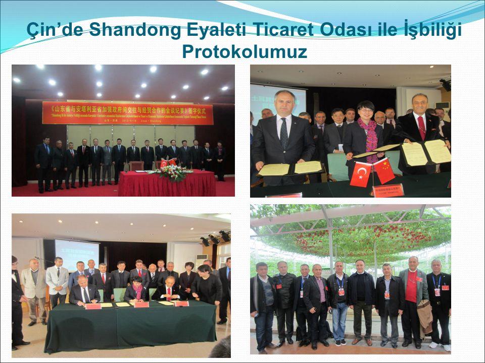 Çin'de Shandong Eyaleti Ticaret Odası ile İşbiliği Protokolumuz