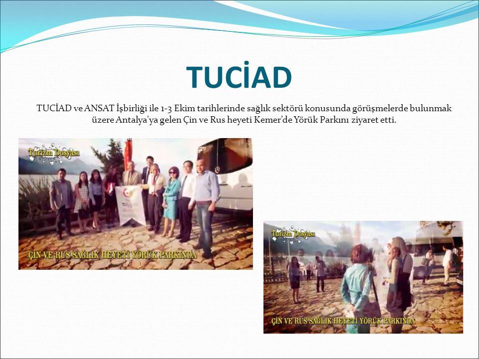TUCİAD ve ANSAT İşbirliği ile 1-3 Ekim tarihlerinde sağlık sektörü konusunda görüşmelerde bulunmak üzere Antalya ya gelen Çin ve Rus heyeti Kemer'de Yörük Parkını ziyaret etti.