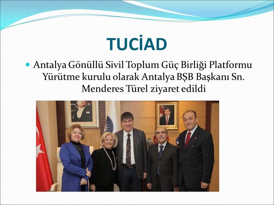 Antalya Gönüllü Sivil Toplum Güç Birliği Platformu Yürütme kurulu olarak Antalya BŞB Başkanı Sn.