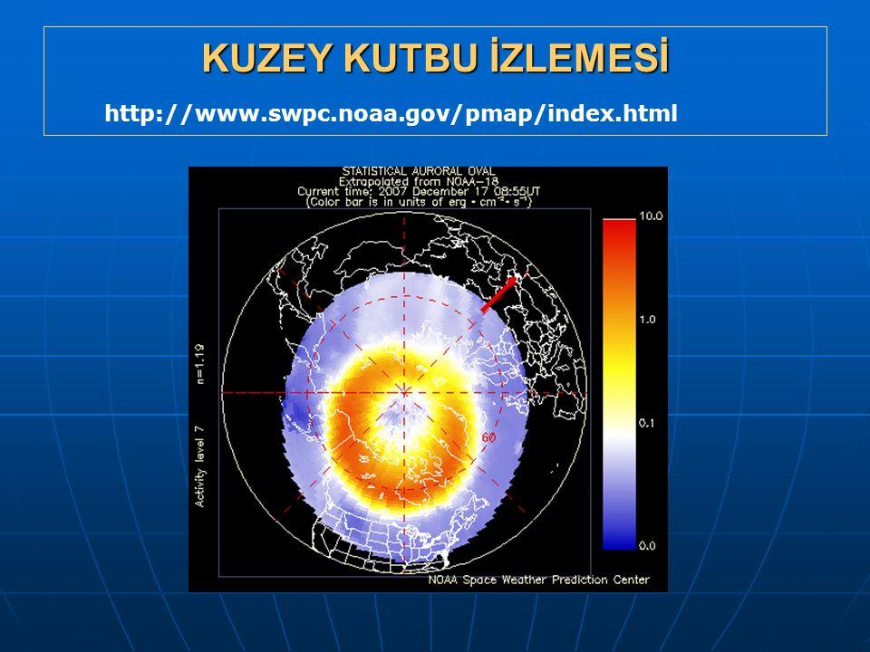 KUZEY KUTBU İZLEMESİ http://www.swpc.noaa.gov/pmap/index.html