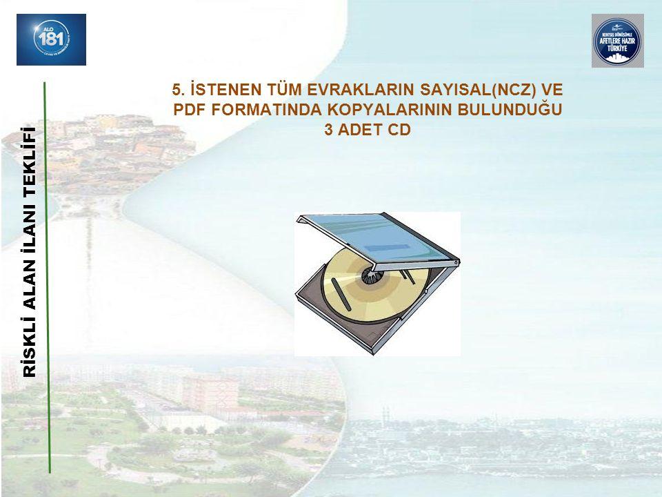RİSKLİ ALAN İLANI TEKLİFİ 5.