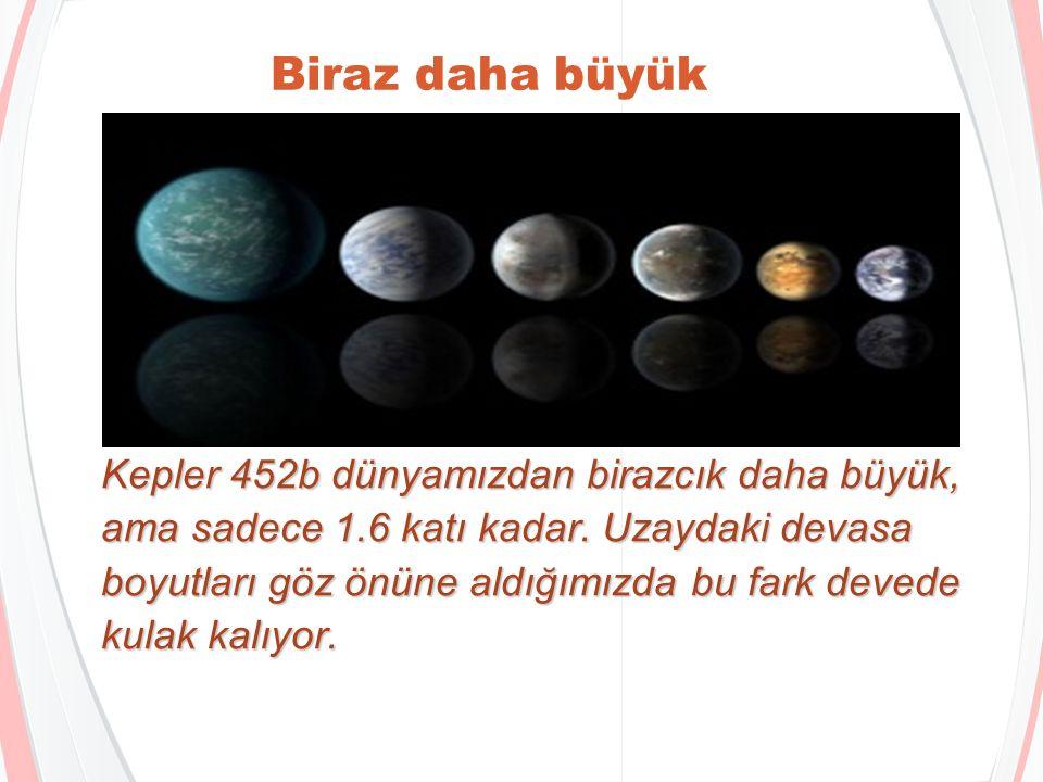 Bir Kepler 452b yılı Kepler 452b yıldızının etrafında bizden biraz daha tembel dönüyor.