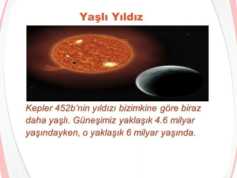 Biraz daha büyük Kepler 452b dünyamızdan birazcık daha büyük, ama sadece 1.6 katı kadar.