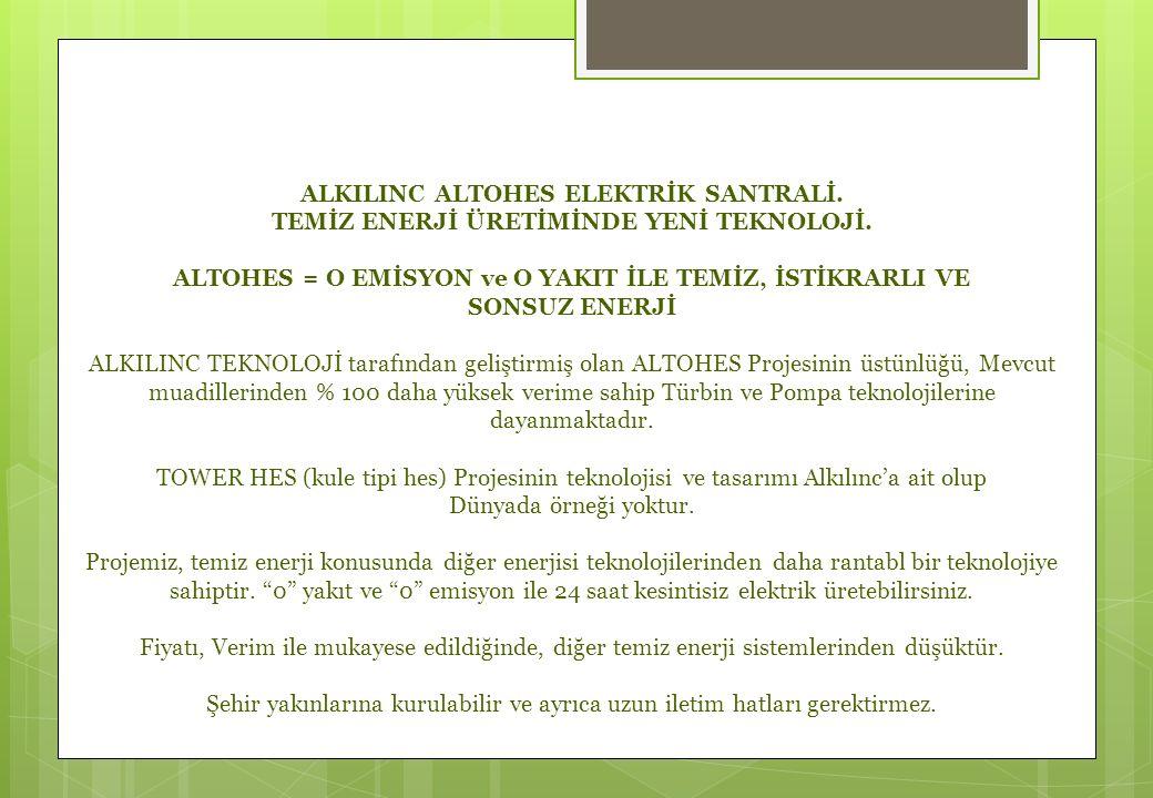 ALKILINC ALTOHES ELEKTRİK SANTRALİ.TEMİZ ENERJİ ÜRETİMİNDE YENİ TEKNOLOJİ.