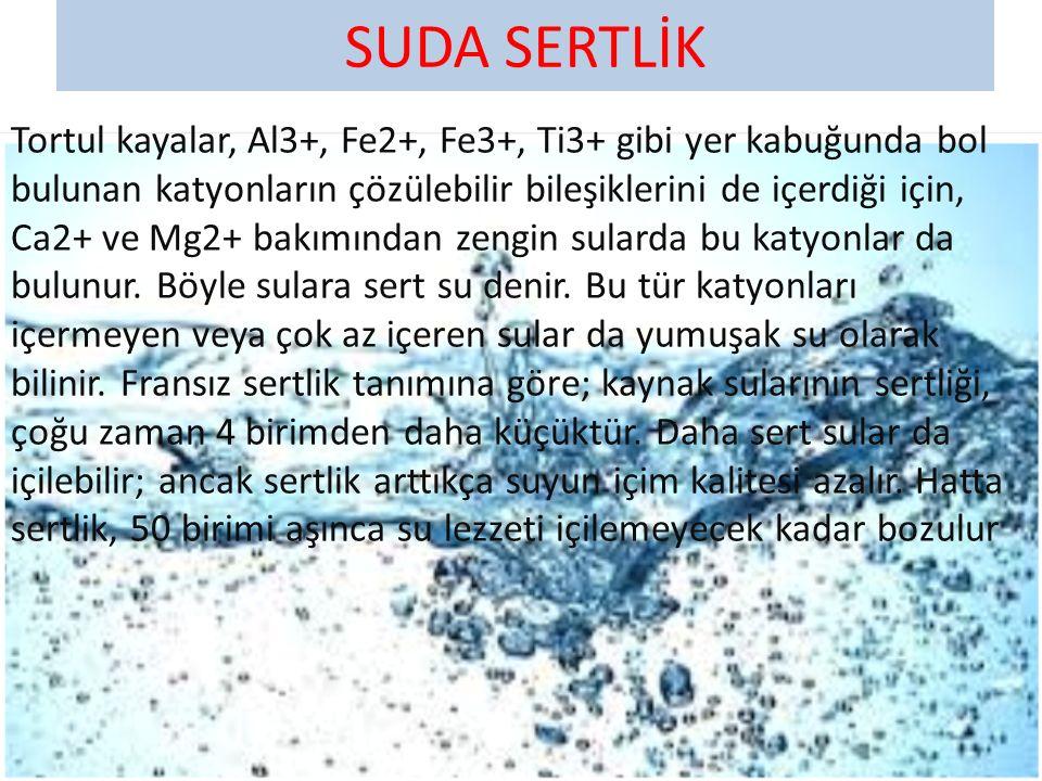 YER ALTI SULARI Yer altı sularının bir bölümü, kaynak suyu olarak yeniden yeryüzüne çıkar ki içmeye en elverişli su budur.