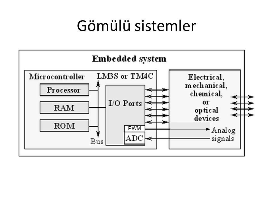 İşlemci Birimleri (CPU) Register ve counter (Kaydedici ve Sayaçlar): Programların gerektiği durumlarda mikrodenetleyicinin kullandığı dahili geçici hafızalara kaydedici (register) denir.