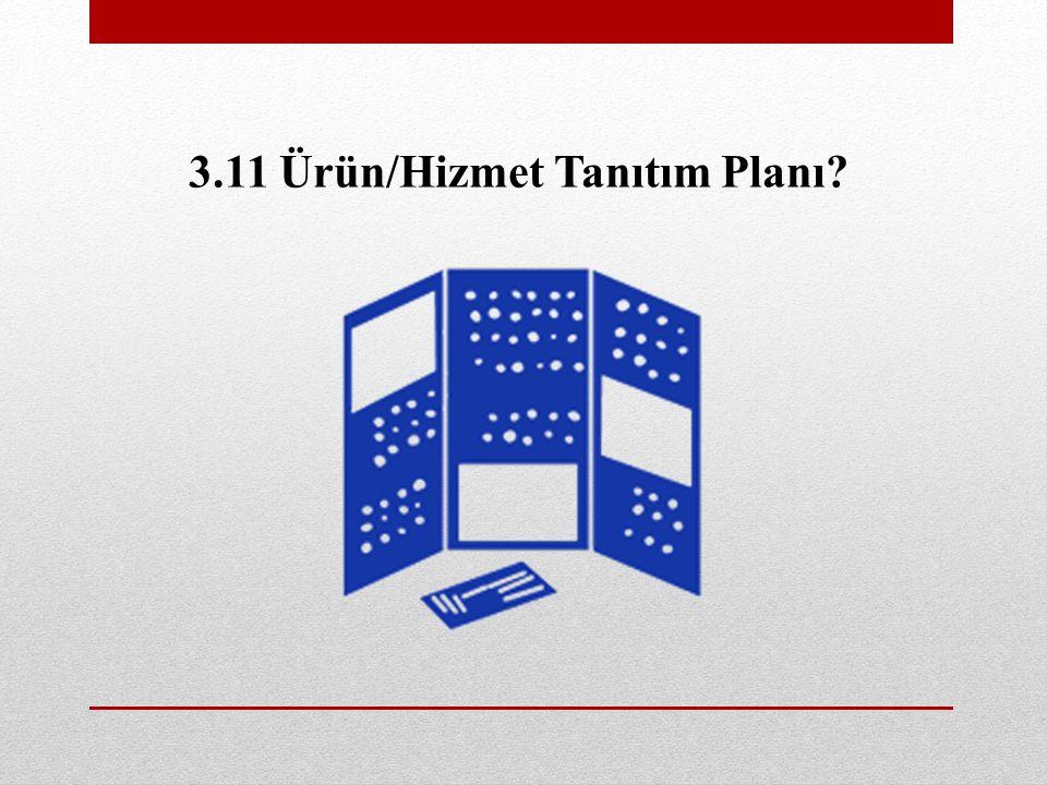 3.11 Ürün/Hizmet Tanıtım Planı?