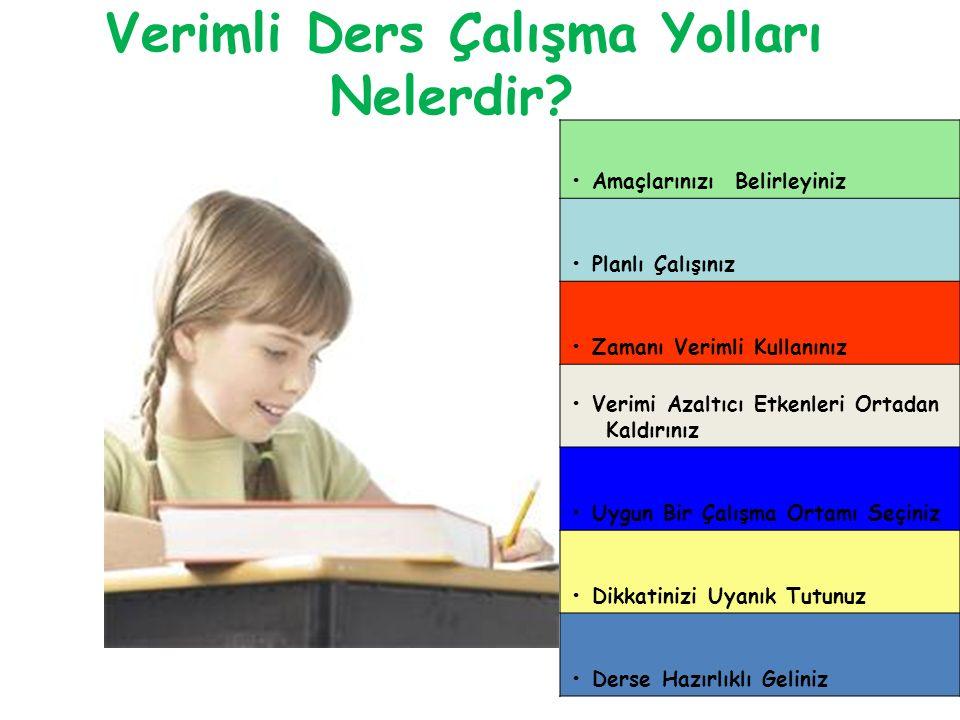 III- ZAMANI VERİMLİ KULLANINIZ Her öğrencinin ders çalışma alışkanlığı farklıdır.Bu nedenle bir ders yada konu için ayrılacak süre öğrenciden öğrenciye değişir.