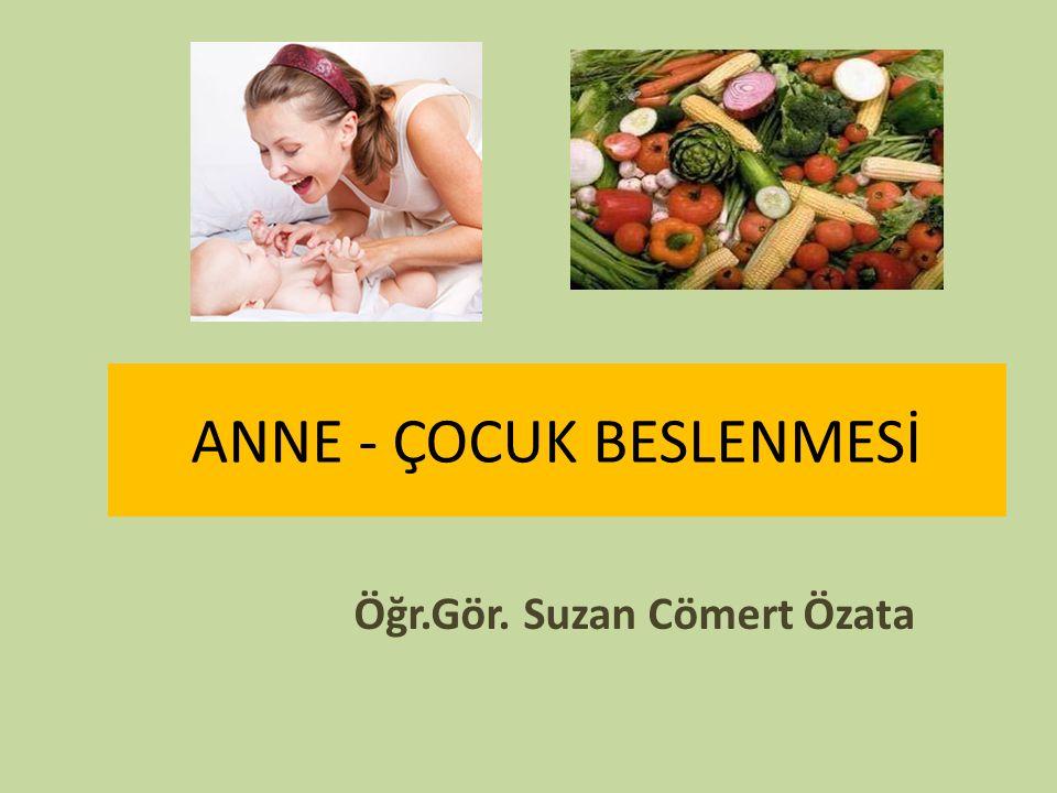 ANNE - ÇOCUK BESLENMESİ Öğr.Gör. Suzan Cömert Özata