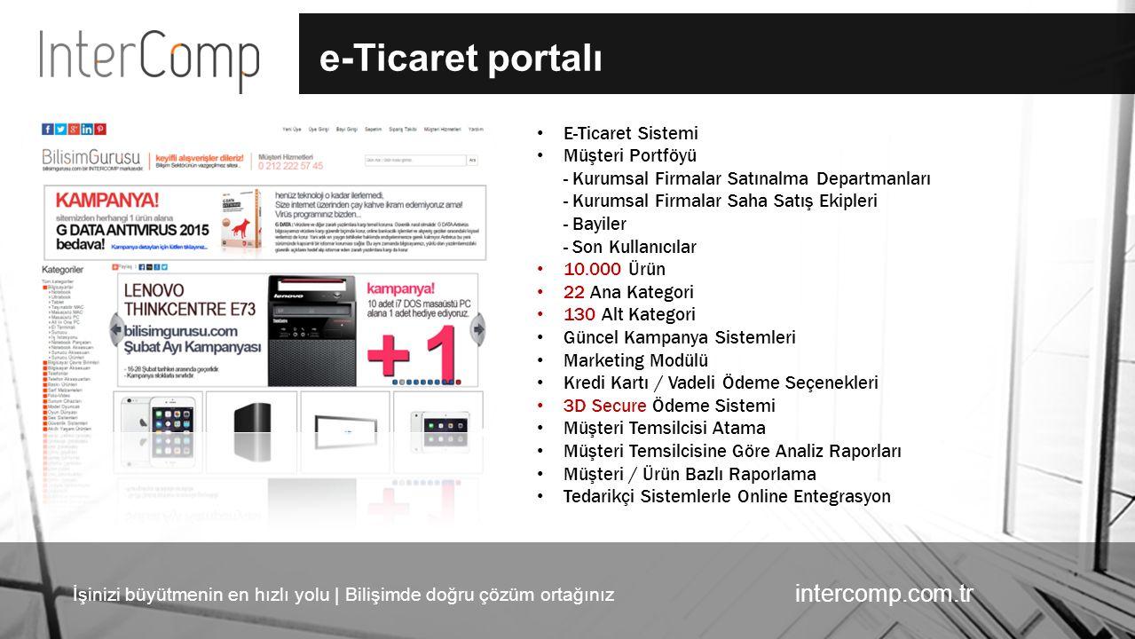 İşinizi büyütmenin en hızlı yolu | Bilişimde doğru çözüm ortağınız intercomp.com.tr e-Ticaret portalı E-Ticaret Sistemi Müşteri Portföyü - Kurumsal Fi