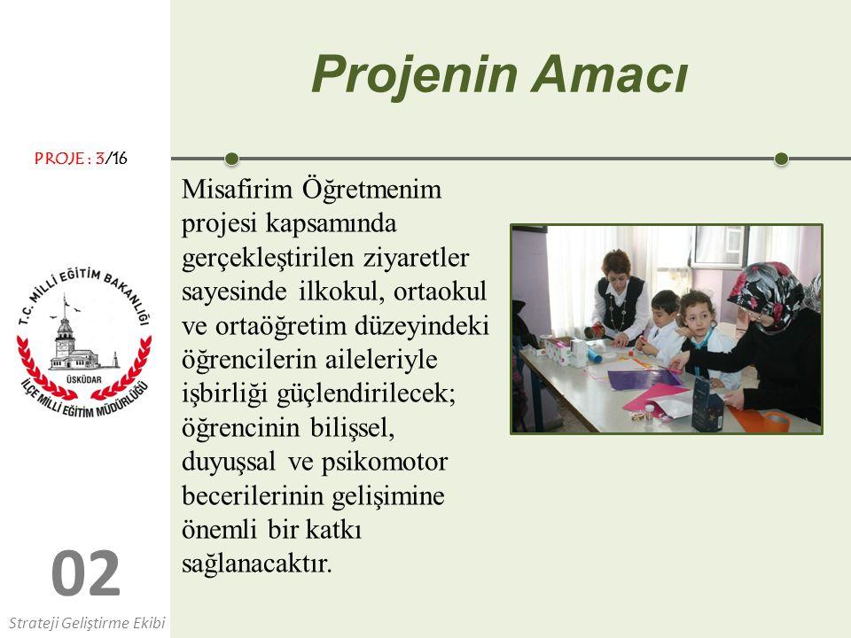 0202 Projenin Amacı Misafirim Öğretmenim projesi kapsamında gerçekleştirilen ziyaretler sayesinde ilkokul, ortaokul ve ortaöğretim düzeyindeki öğrenci