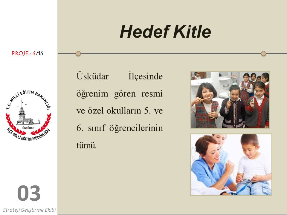 0303 Hedef Kitle Üsküdar İlçesinde öğrenim gören resmi ve özel okulların 5.