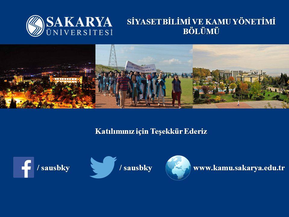 Katılımınız için Teşekkür Ederiz / sausbky www.kamu.sakarya.edu.tr