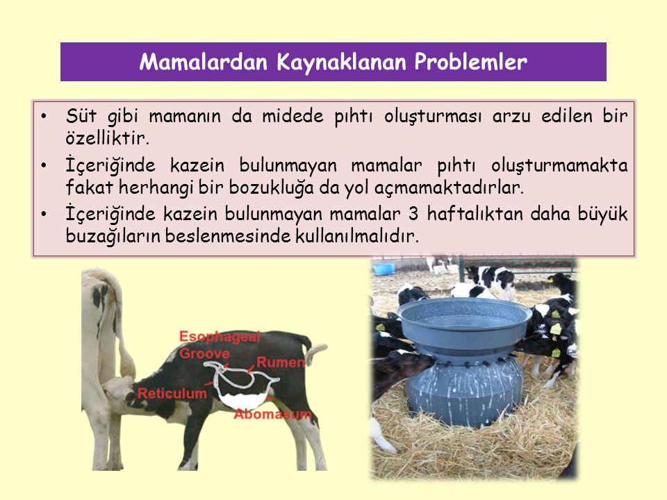 Mamalardan Kaynaklanan Problemler Süt gibi mamanın da midede pıhtı oluşturması arzu edilen bir özelliktir.