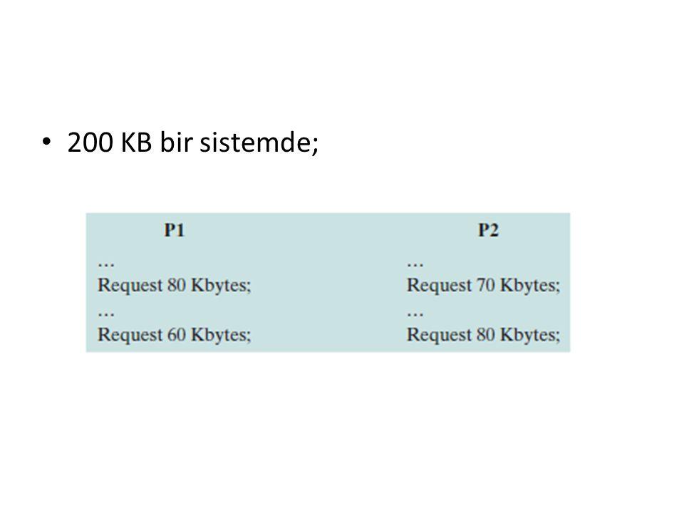 200 KB bir sistemde;