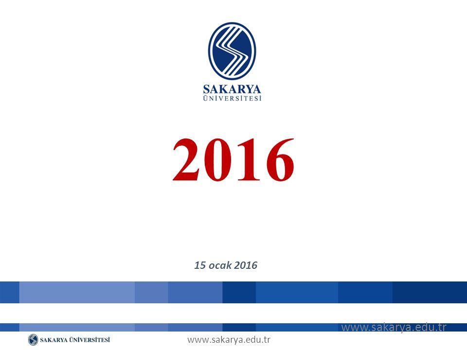 www.sakarya.edu.tr 2016 15 ocak 2016