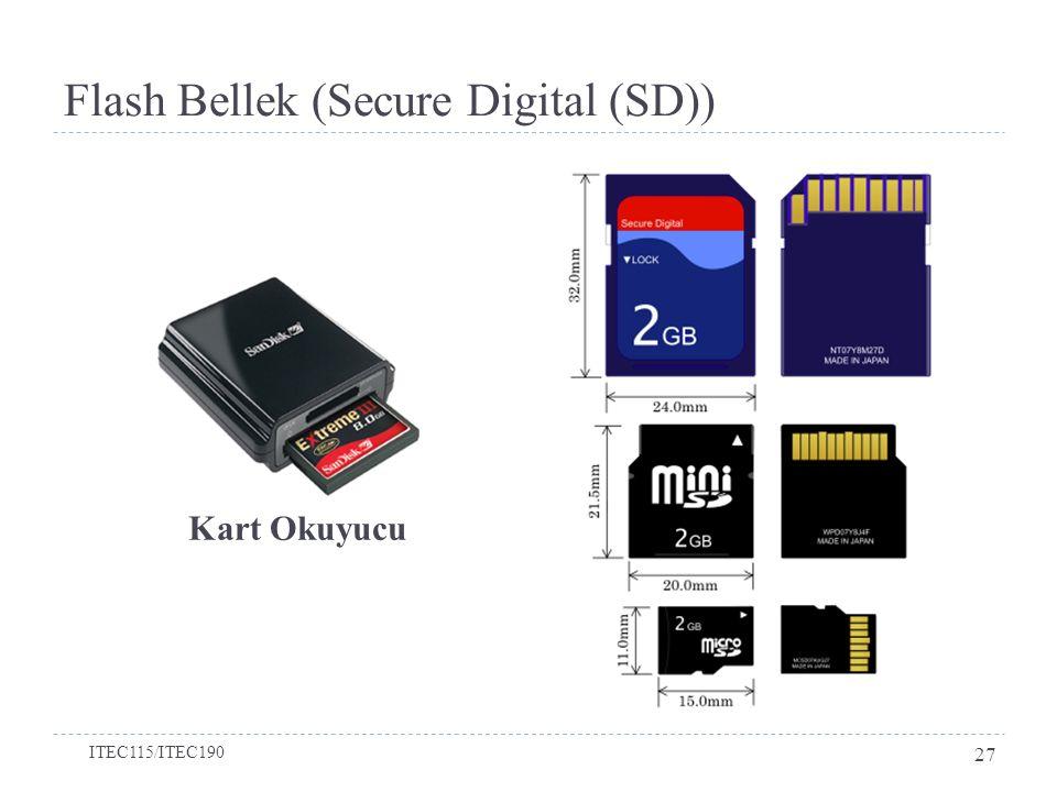 Flash Bellek (Secure Digital (SD)) Kart Okuyucu ITEC115/ITEC190 27