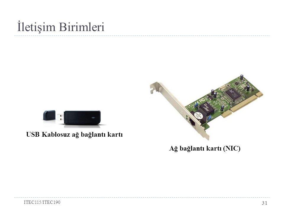 İletişim Birimleri Ağ bağlantı kartı (NIC) USB Kablosuz ağ bağlantı kartı ITEC115/ITEC190 31