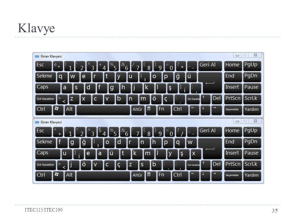 Klavye ITEC115/ITEC190 35
