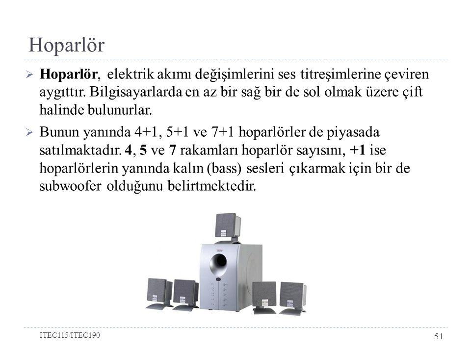 Hoparlör  Hoparlör, elektrik akımı değişimlerini ses titreşimlerine çeviren aygıttır.