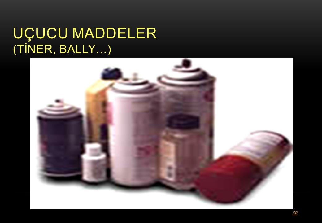 UÇUCU MADDELER (TİNER, BALLY…) 30