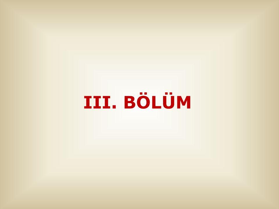 III. BÖLÜM