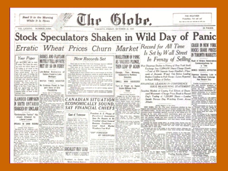 """BORSANIN ÇÖKÜŞÜ """"Kara Perşembe"""" 29 Ekim, 1929."""