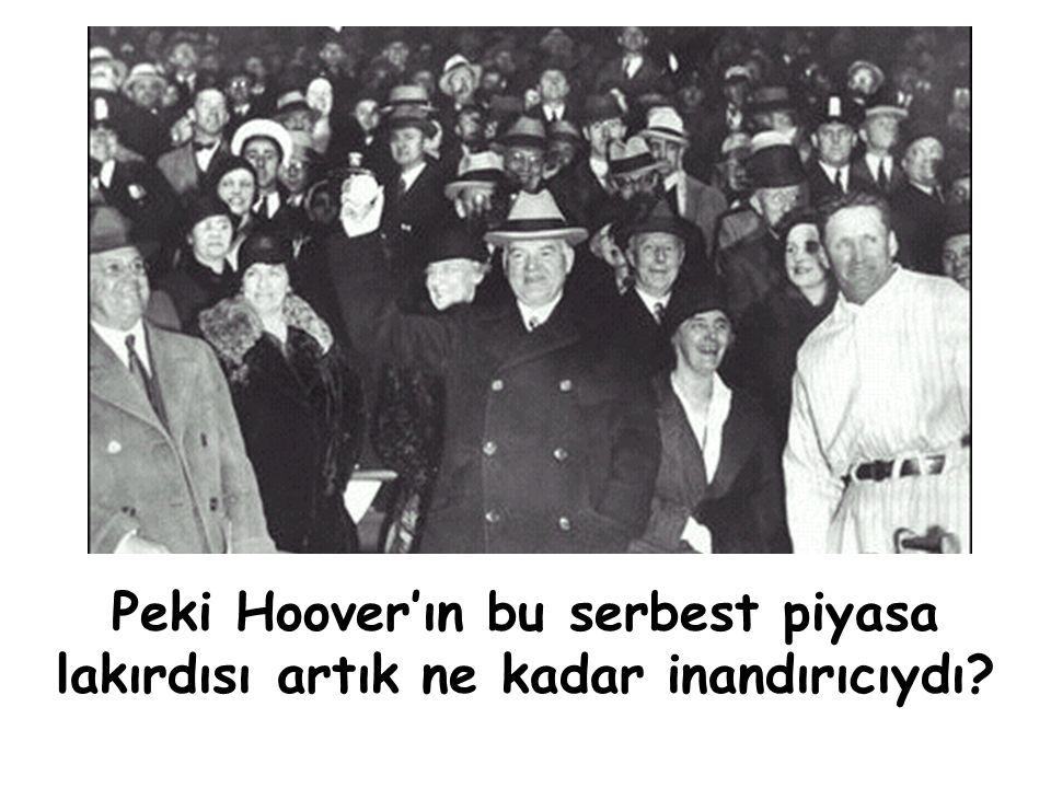 """""""Hükümetin asli görevi özel girişimi yeniden ayaklandıracak girişimlerde bulunmaktır'' Herbert Hoover (1930)"""
