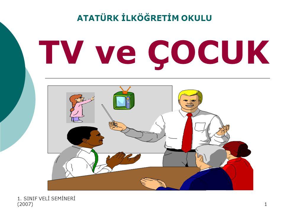 1. SINIF VELİ SEMİNERİ (2007)1 TV ve ÇOCUK ATATÜRK İLKÖĞRETİM OKULU